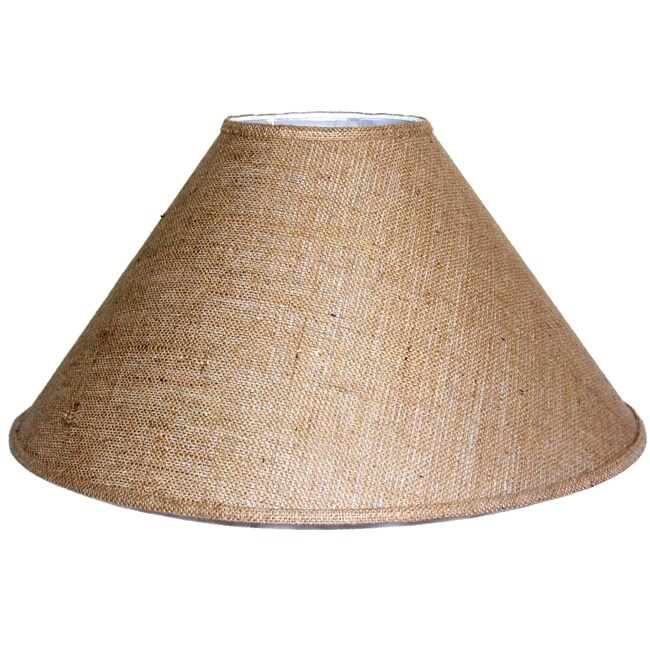 Crown Lighting Medium Brown Burlap Coolie Lampshade