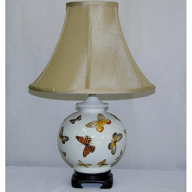 Butterflies Gold Foil Transistional Table Lamp