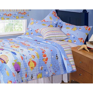 Greenland Home Fashions Aquarius 3-piece Quilt Set