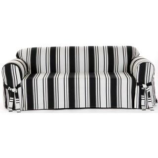 Classic Slipcovers Classic Stripe Cotton Loveseat Slipcover