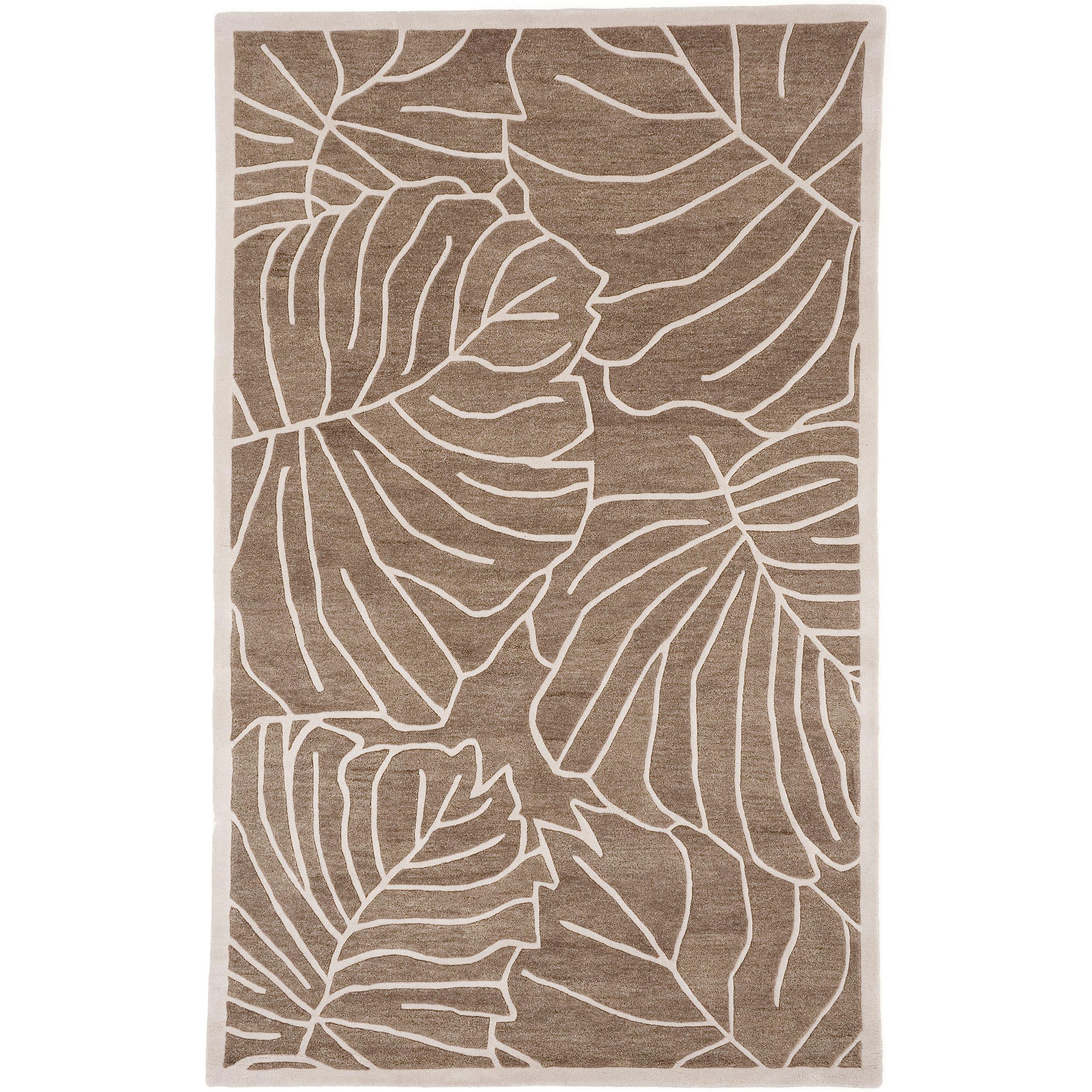 Hand-tufted Tan Kagera New Zealand Wool Rug (3'3 x 5'3)