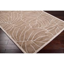 Hand-tufted Tan Kagera New Zealand Wool Rug (3'3 x 5'3) - Thumbnail 1