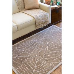 Hand-tufted Tan Kagera New Zealand Wool Rug (3'3 x 5'3) - Thumbnail 2