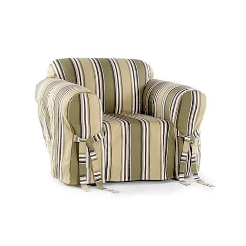 Classic Slipcovers Classic Stripe Chair Slipcover