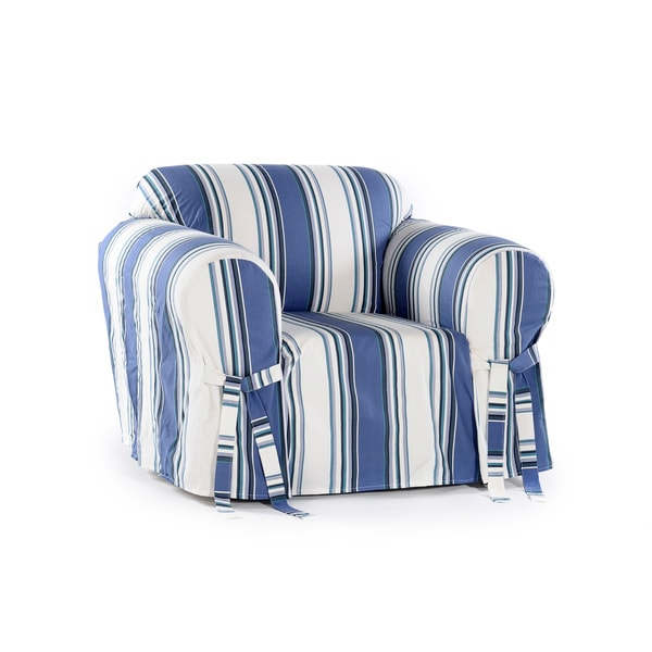 Classic Slipcovers Classic Stripe Chair Slipcover Free Shipping