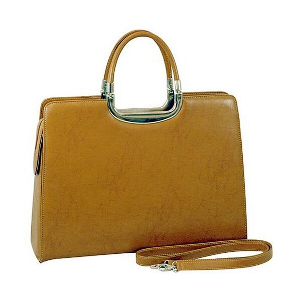 Dasein Faux-leather Briefcase Satchel with Detachable Shoulder Strap