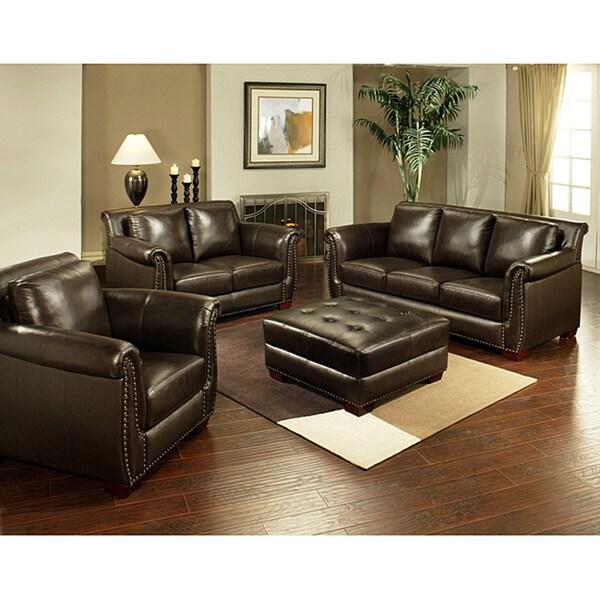 Top Grain Leather Sofa Costco: Ebiza 4-piece Top Grain Leather Sofa Set