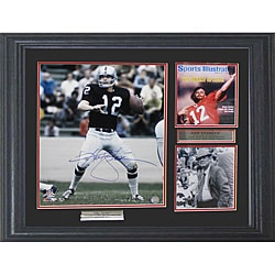 Oakland Raiders Ken Stabler Autographed Photo Deluxe Frame