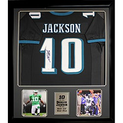 DeSean Jackson Autographed Jersey in a Deluxe Frame - Thumbnail 0