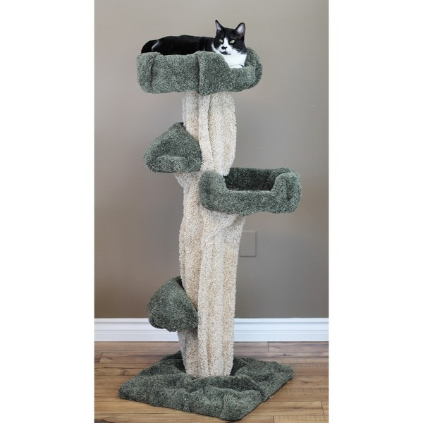 New Cat Condos Wood Large Play Tree