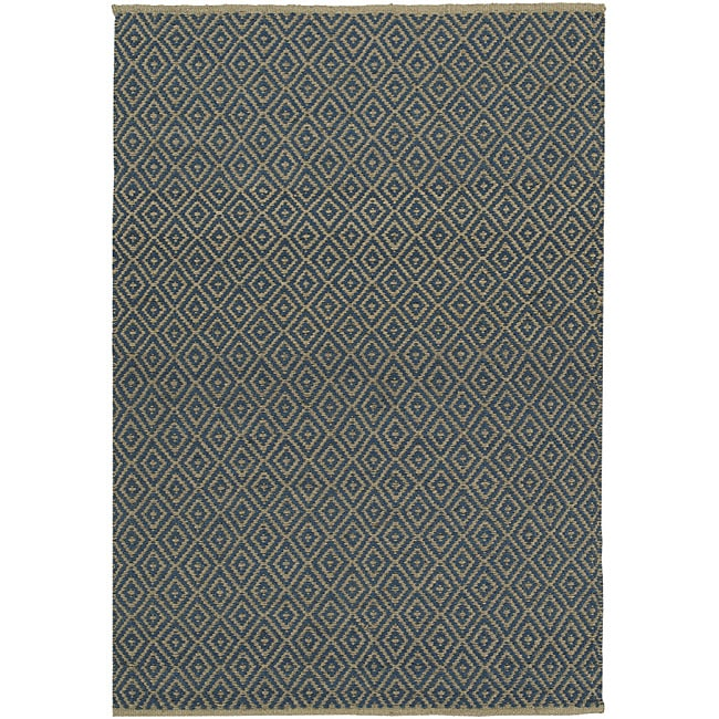 Blue Diamond Jute Rug - 5' x 8'