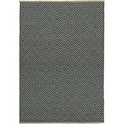 Blue Diamond Jute Rug (4' x 6')