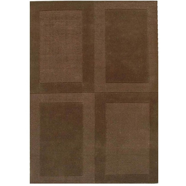 Coffee Loop Hand Tufted Wool Rug - 5' x 8'