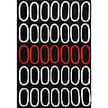 Circle Red/ Black Hand Tufted Wool Rug - 8' x 11'