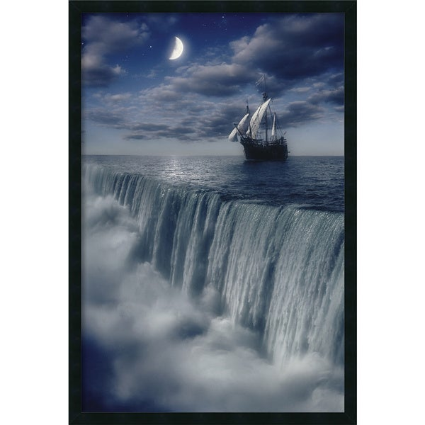 Framed Art Print Sailboat at Earth's End 26 x 38-inch