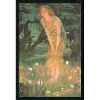 Framed Art Print Midsummer Eve by Edward Robert Hughes 26 x 38-inch