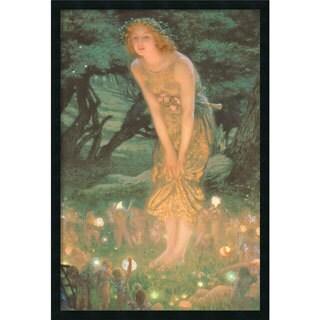 Framed Art Print Midsummer Eve by Edward Robert Hughes 26 x 38-inch