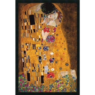 Gustav Klimt 'The Kiss (Le Baiser / Il Baccio), 1907' Framed Art Print with Gel Coated Finish