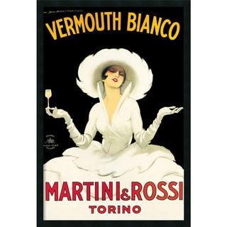Marcello Dudovich 'Martini & Rossi' Framed Art Print with Gel Coated Finish