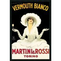 Framed Art Print Martini & Rossi by Marcello Dudovich 26 x 38-inch