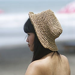 Handmade Sea Grass Crochet Summer Hat (Indonesia)