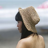Handmade Sea Grass Crochet Summer Hat (Indonesia)