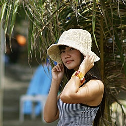 Handmade Sea Grass Summer Hat (Indonesia)