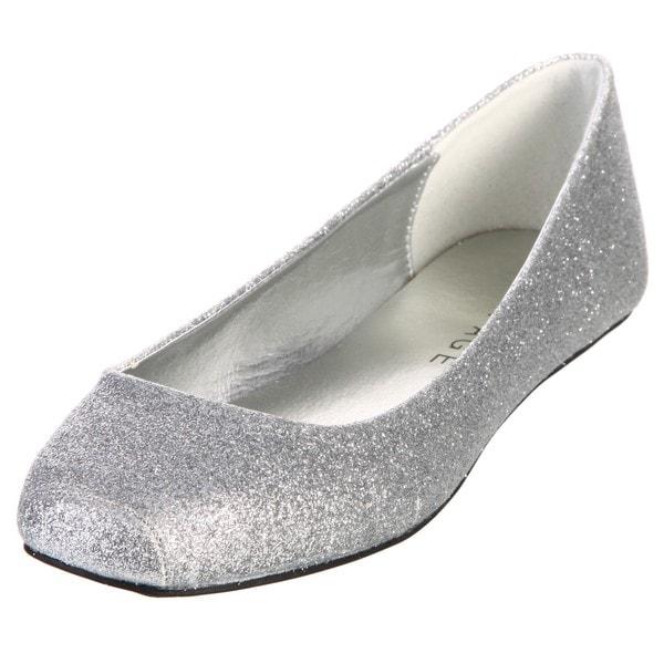 Rampage Women's 'Hadassah' Silver Glitter Flats