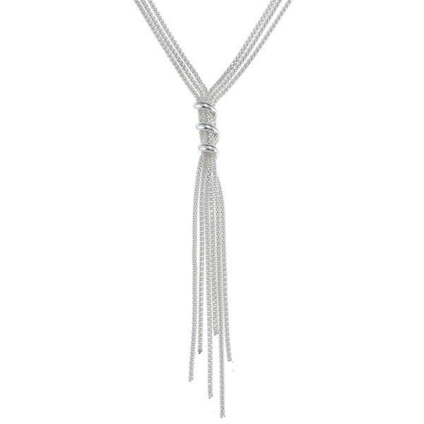 Sterling Silver Italian Tassel Fashion Necklace