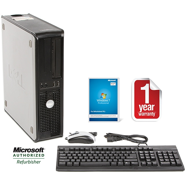 Dell Optiplex 755 Intel Core 2 Duo 2.33GHz CPU 4GB RAM 500GB HDD Windows 10 Pro Desktop Computer (Refurbished) - Thumbnail 0