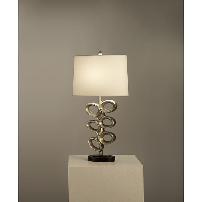 Del Ray Pewter Table Lamp