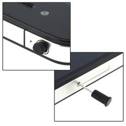 INSTEN Black Headset Dust Cap with Eject Pin for Apple iPhone/ iPod