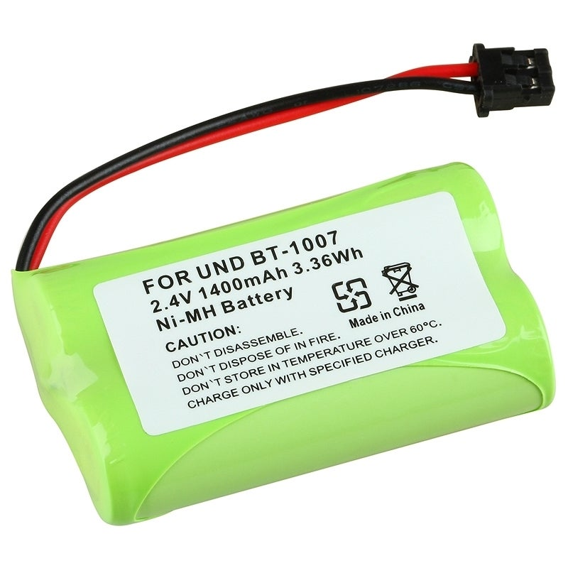 Insten Compatible Ni-MH Battery for Uniden BT-1007 Cordless Phone, Green, Size Rechargeable #471205