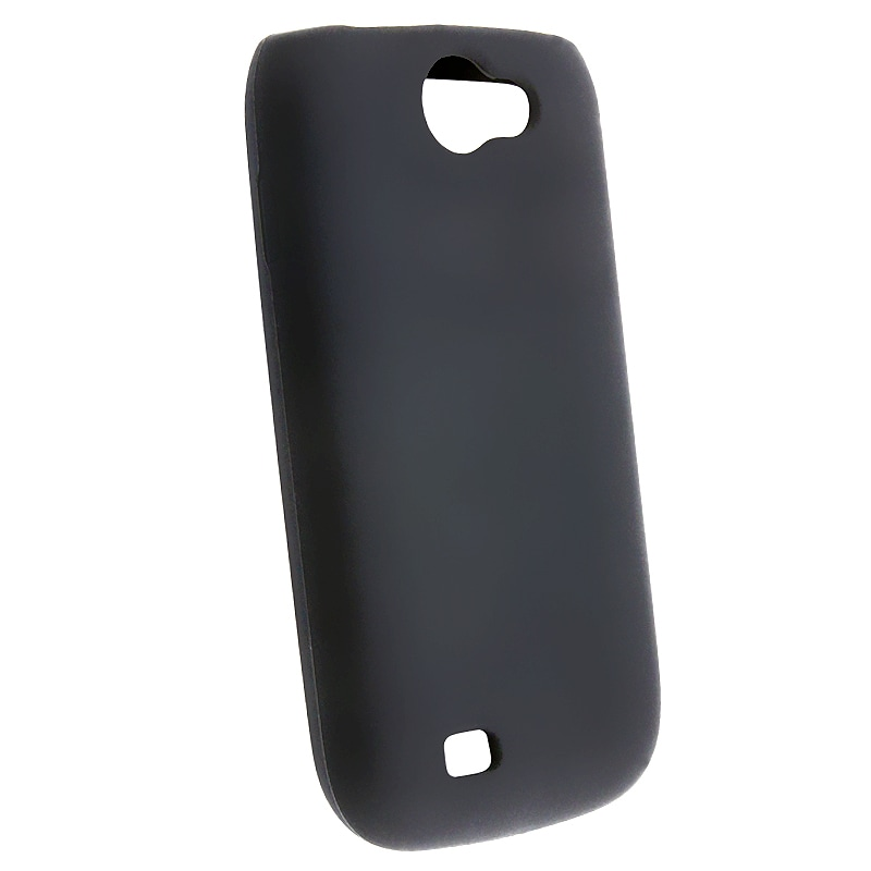 INSTEN Black Soft Silicone Skin Phone Case Cover for Samsung Exhibit 2 4G T679