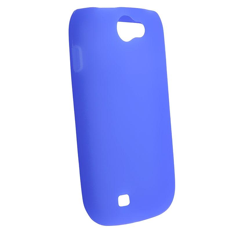 BasAcc Blue Silicone Skin Case for Samsung Exhibit 2 4G T679