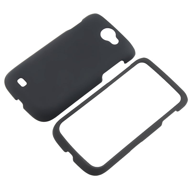 INSTEN Black Snap-on Rubber Coated Phone Case Cover for Samsung Exhibit 2 4G T679
