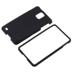 INSTEN Black Snap-on Rubber Coated Phone Case Cover for Samsung Infuse 4G SGH-i997