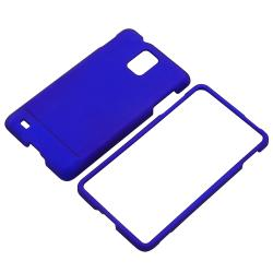 BasAcc Dark Blue Snap-on Rubber Coated Case for Samsung Infuse 4G i997 - Thumbnail 1