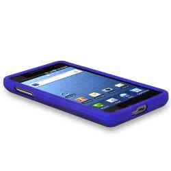 BasAcc Dark Blue Snap-on Rubber Coated Case for Samsung Infuse 4G i997 - Thumbnail 2