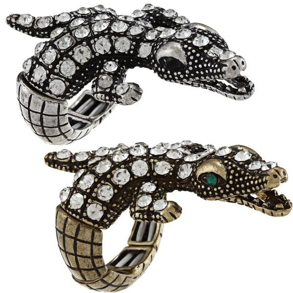 Celeste Crystal Alligator Stretch Ring