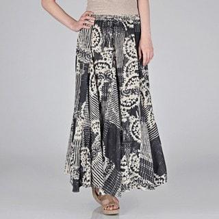 Grace Element Women's Kaleidoscope Cotton Crinkle Skirt