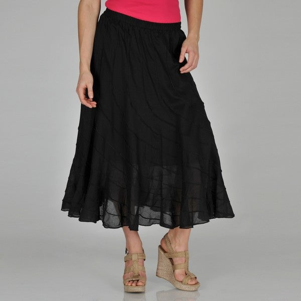 Grace Elements Women's Asymmetrical Seam Cotton Maxi Skirt