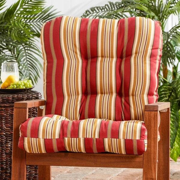 Outdoor Roma Stripe Seat/ Back Combo Cushion