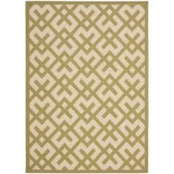 Safavieh Courtyard Contemporary Beige/ Green Indoor/ Outdoor Rug - 8' x 11'2 - Thumbnail 0