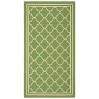 "Safavieh Poolside Green/Beige Indoor/Outdoor Polypropylene Rug - 2'-7"" x 5'"