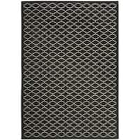 Safavieh Poolside Black/Beige Indoor - 5'3 x 7'7