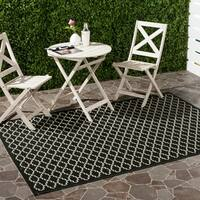 Safavieh Poolside Black/Beige Stain-Resistant Indoor/Outdoor Rug - 9' x 12'