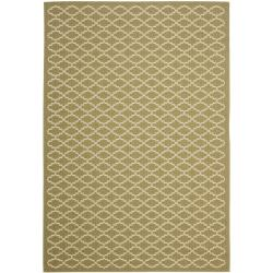 Safavieh Poolside Green/Beige Indoor/Outdoor Area Rug - 6'7 x 9'6