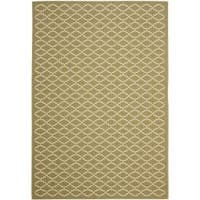 Safavieh Poolside Green/ Beige Indoor Outdoor Rug - 8' x 11'2