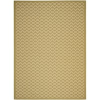 Safavieh Poolside Green/ Beige Indoor Outdoor Rug - 8' X 11'